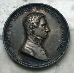1828 Sweden Silver Medal - Laborum Dulce Lenimen Tuetur