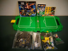 2001 RITVIK MEGA BLOKS SPORTS 2 GO SOCCER NEW IN FIELD CARRY CASE #9192