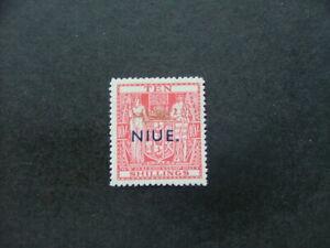Niue 1942 10/- pale carmine-lake SG81 MM
