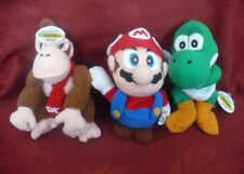 Mario, Donkey Kong, and Yoshi Plush Bean Bag Characters -- Nintendo 64 NRFB
