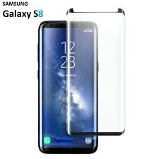 100% Genuine Tempered Glass LCD Screen Protector For Samsung Galaxy S8 Black