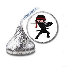 216 NINJA MARTIAL ARTS HERSHEY'S KISS CANDY BIRTHDAY STICKER LABELS Party Favors