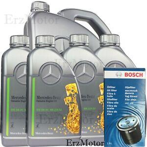 9 Liter Original Mercedes MB 229.52 5W-30 5W30 MOTORÖL BOSCH ÖLFILTER 1457437001