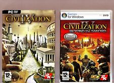 SID MEIERS CIVILIZATION IV ORIGINAL VERSION & BEYOND THE SWORD EXPANSION FOR PC!