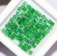 Natural Emerald Square Cut 1.60 mm 1.33 Cts Lot 50 Pcs Rich Green Loose Gemstone