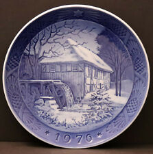 "Royal Copenhagen 1976 Christmas Plate ""Vibex Watermill"""