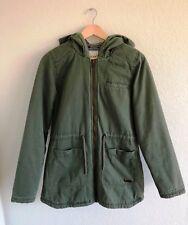 Women's ROXY hooded Coat jacket size M green