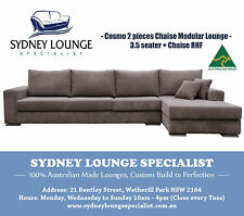 Brand New - AUS MADE Cosmo Chaise Modular Lounge Couch (Warwick Jumbo Cord)