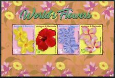 More details for antigua & barbuda stamps 2021 mnh world's flowers hibiscus frangipani 4v m/s