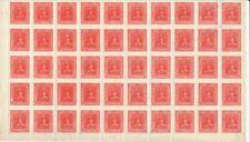 Teilstück Briefmarkenbogen Ukraine  um 1918 - 50 Marken