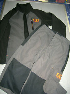 BOYS BEAR GRYLLS by CRAGHOPPERS JACKET AND TROUSERS AGE 5-6, GREY/BLACK
