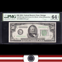 1934 $50 CHICAGO FRN Federal Reserve Note  PMG 64 EPQ  Fr 2102-Gdgs G06951478A