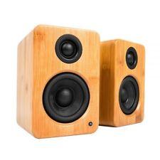 1 Pair Kanto Yu2 Powered Desktop Speakers 50 Watts Bamboo