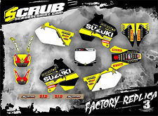 SCRUB Suzuki RM 125 250 1996 1997 1998 Grafik Sticker Dekor-Set '96-'98