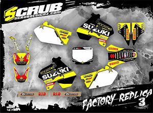 Suzuki Dekor RM125 RM250 1996 1997 1998 aufkleber '96 '97 '98 SCRUB RM 125 250