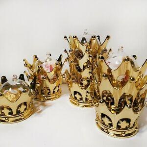Lots 12pcs Gold Crown Favor Table Decoration for Kids Baby Shower Birthday