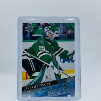 2020/21 UD Series 1 Young Guns #246 Jake Oettinger RC Dallas Stars Rookie Card