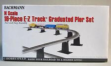 BACHMANN N SCALE 16 PC. E-Z TRACK GRADUATED BRIDGE PIER SET ez train 44871 NEW