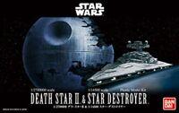 JAPAN Bandai 230358 Star Wars 1/2,700,000 Death Star & 1/14,500 Star Destroyer