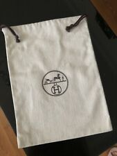 "Authentic HERMES Drawstring Dust Bag 9 1/8""x 12 3/8"""