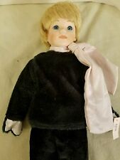 "17"" Mann Katie Porcelain Doll in Cat Costume out of box"