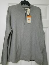 NWT Tommy Bahama Island Luxe Half Zip T40057 Flanell Größe XL
