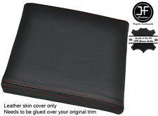 BROWN STITCH CONSOLE CUBBY BOX LID LEATHER COVER FITS RANGE ROVER P38 1994-2002