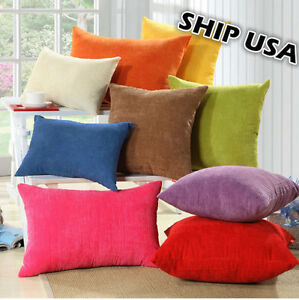 Ship USA Corn Kernels Corduroy Pillow Cover Cushion Case 4 Size- 12 18 24 26