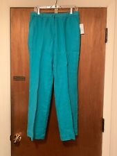 NWT J. M. Collection Pants, Size 10, Turquoise, Flat Front