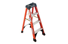 Werner 4 Ft Fiberglass Step Ladder 300 Lb Load Capacity Type Ia Duty Rating