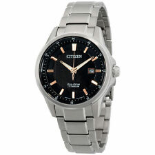 New! Authentic CITIZEN Mens Eco Drive TI + IP Titanium Watch  AW1490-50E
