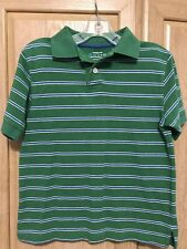 Child's Place Boys Polo Style Green Stripped Shirt