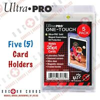 Ultra Pro 35pt One Touch Magnetic Card Holders ⚾️⚽️🏀🏈 (5) PACK SET
