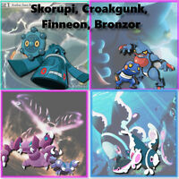 Pokemon Go: Skorupi / Croagunk/ Finneon / Bronzor Catching - Lots of 8 units