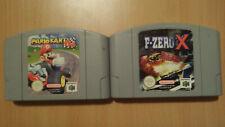 Mariokart 64 and F-Zero X, Nintendo 64, Pal version, Cartridges only