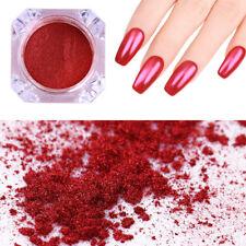 Mirror Red Nail Glitter Powder Nail Art Chrome Pigment Glitter DIY NICOLE DIARY