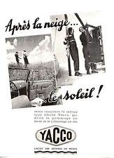 """N° 1375  / prospectus huile YACCO ,""""Aprés la neige...le soleil"""""""