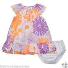 Carter's 2 Piece Floral Dress & Bloomer Style Diaper Cover ~ Size 18 Mons. ~ NWT