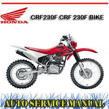 HONDA CRF230F CRF 230F BIKE WORKSHOP SERVICE REPAIR MANUAL ~ DVD