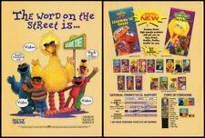 SESAME STREET__Original 1995 Trade print AD / promo__BIG BIRD__Jim Henson Prod.