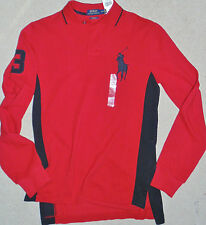 Awesome NWT Polo Ralph Lauren BIG PONY cotton Long slv knit shirt,Custom Fit S