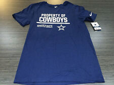 NFL Football Property of T Shirt On Field Dallas Cowboys Large Equipment Logo