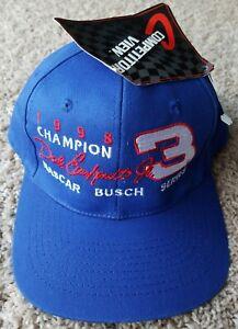 Vintage 1998 NASCAR Busch Series Champion Racing 3 Dale Earnhardt Jr Hat Cap 8