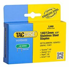 Tacwise 140 12mm Stainless Steel Staples  Box of 2000