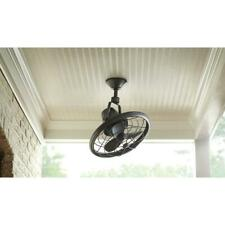 Home 18 in Indoor/Outdoor Tarnished Bronze Oscillating Ceiling Fan Wall Control