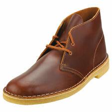 Clarks Originals Desert Boot Uomo Tan Pelle Stivali Desert