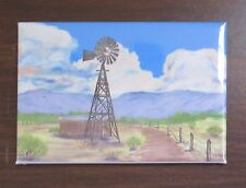 2X3  inch Refrigerator Magnet with Southwest Windmill and Old Road