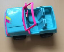 Vintage 1994 Barbie Dolls Beach Blue Car Jeep Dune Buggy
