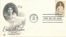 Emily Dickinson cover first day of issue August 28, 1971