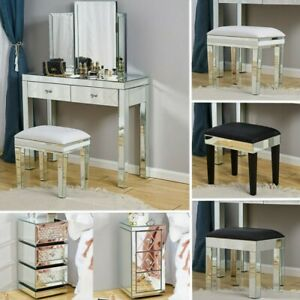 Mirror bedroom Dressing Table Stool bedside Table cabinet console Dresser Glass-